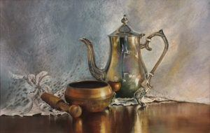 Copper and LAce - Pastel Painting by artist Hettie Rowley
