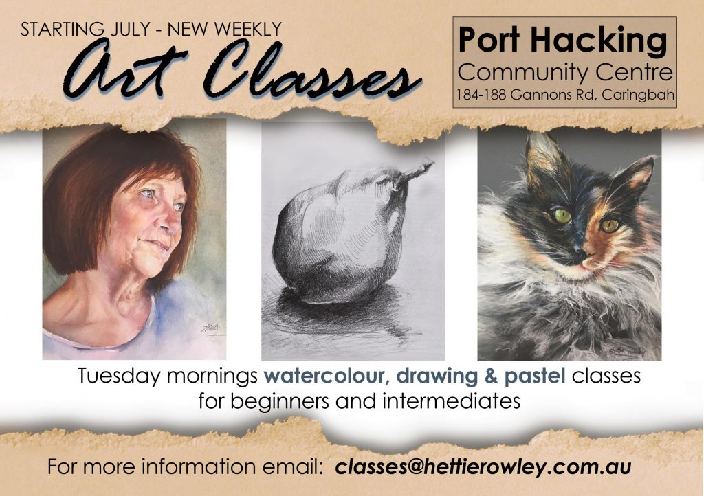 Art Classes Port Hacking with Artist Hettie Rowley