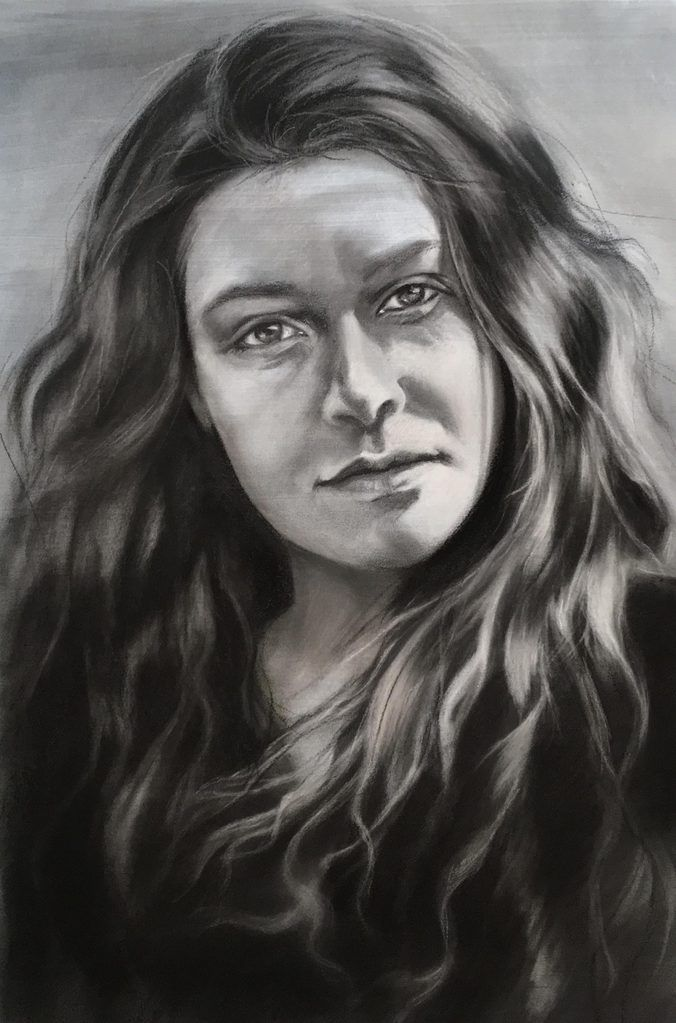 Charcoal portrait by portrait artist Sydney