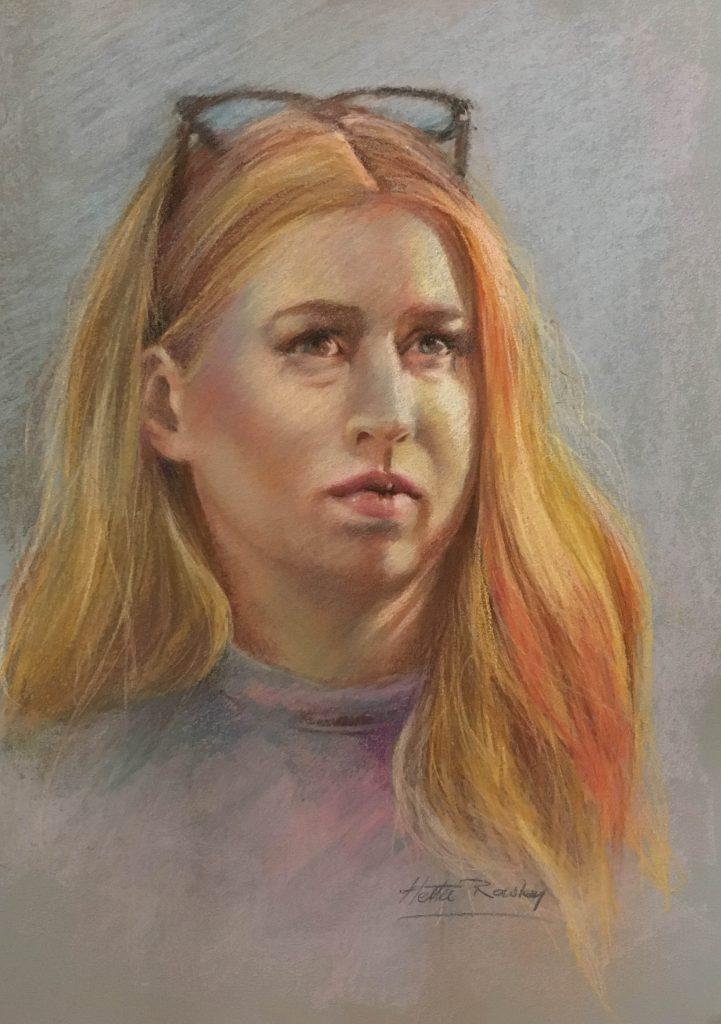 Portrait in Pastel by Hettie Rowley- Portrait Artist Sydney