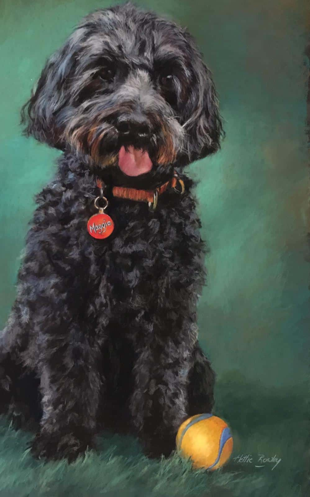 Pet portrait in pastel by Hettie Rowley - portrait artist Sydney